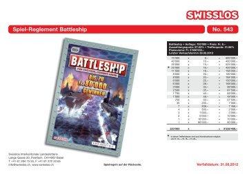Spiel-Reglement Battleship No. 543 - Swisslos