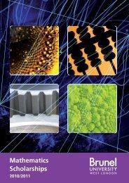 Mathematics Scholarships - Brunel University