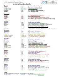 JCC Afterschool Program- Oakland 2011-2012 ... - JCC East Bay