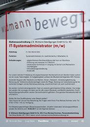 IT Systemadministrator (m/w)
