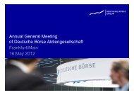 Net revenue +5% / EBIT +13% - Deutsche Börse AG