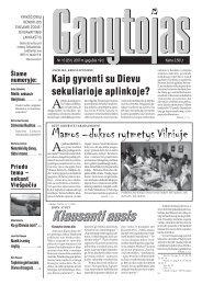 Nr. 10 (251) 2007 m. gegužės 19 d. - Krikščionių bendrija TIKĖJIMO ...