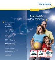 Deutsche BKK – faire Konditionen