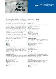 Deutsche Börse Indices and Xetra® ETF - Börse Frankfurt
