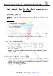 Zápis z jednání Výkonného výboru České asociace squashe