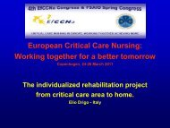 The individualized rehabilitation project from critical care area to home