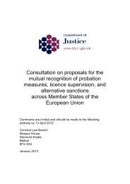 Consultation on proposals for the mutual recognition of probation ...
