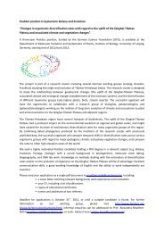 """Postdoc position in Systematic Botany and Evolution """"Changes in ..."""