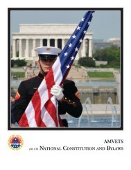 AMVETS 2010 NATioNAl CoNSTiTuTioN BylAwS