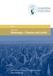 Bioenergy – Chances and Limits - Leopoldina