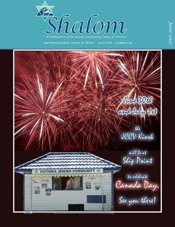 Shalom Newsletter - June 2012 - JCC Victoria