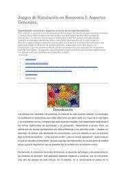 Juegos de Simulación en Economía I: Aspectos ... - Ecobachillerato