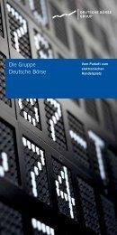 Vom Parkett zum elektronischen - Deutsche Börse AG