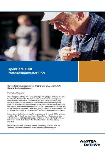 OpenCare 1000 Protokollkonverter PKV - Aastra