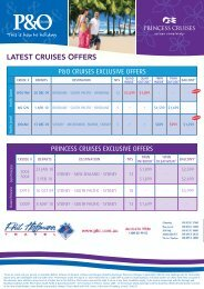 LATEST CRUISES OFFERS