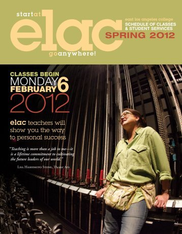 Spring 2012 - East Los Angeles College