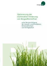 Optimierung der marktnahen Förderung von Biogas ... - Biogasrat e.V.