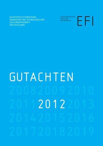Zum Gutachten 2012 - Expertenkommission Forschung und Innovation