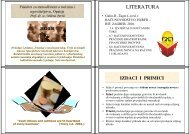 LITERATURA - LUMENS - Fakultet za menadžment u turizmu i ...