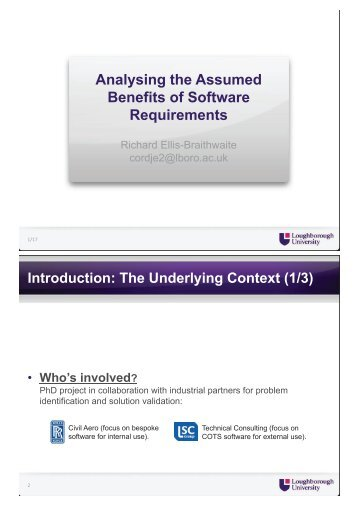 Analysing the Assumed Benefits of Software Requirements