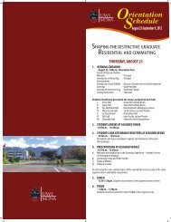 UWI, Mona Orientation Schedule 2012 - Uwi.edu