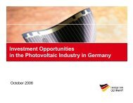 Investment Opportunities in the Photovoltaic Industry in Germany