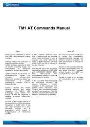 TM1 AT Guide - Teltonika