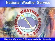 National Weather Service Data Analysis and Forecasting