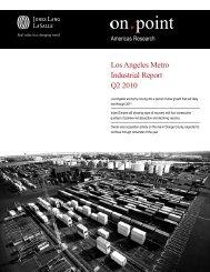 Los Angeles Metro Industrial Report Q2 2010