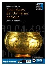 Splendeurs de l'Arménie antique - Musée départemental Arles antique