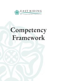 Competency Framework - East Riding Council