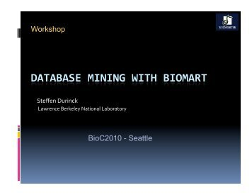 Database mining with biomaRt - Bioconductor