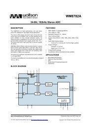 WM8782A, Rev 4.8 - Wolfson Microelectronics plc