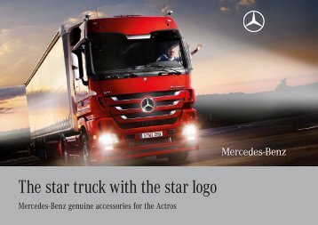 The star truck with the star logo - Mercedes-Benz PRAHA