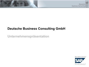 Die Deutsche Business Consulting GmbH - PresseBox
