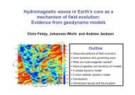 Evidence from geodynamo models