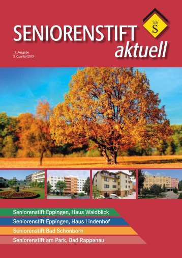 11. Ausgabe, 3. Quartal 2013 - Seniorenstift