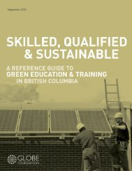 Skilled, Qualified & Sustainable / A Reference Guide to - BC's Green ...
