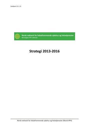 Strategi og handlingsplan 2013-2016