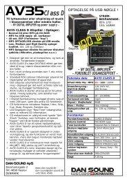 AV35Class D - DAN-SOUND Entrance page