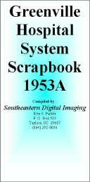 Greenville Hospital System Scrapbook 1953A - Magazooms