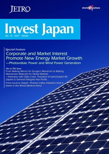 Corporate and Market Interest Promote New Energy Market ... - JETRO