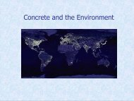 Concrete and the Environment