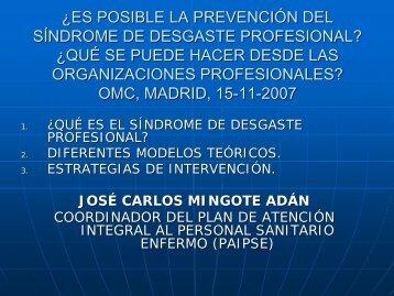 ¿Es posible la prevención del síndrome de desgaste ... - CGCOM