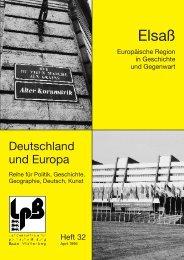 Elsaß – Europäische Region in Geschichte und Gegenwart