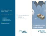 View the Agent Referral Program brochure - Charter Business