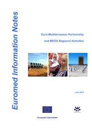Euro-Mediterranean Partnership and MEDA Regional ... - emwis