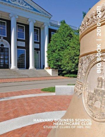 BIO BOOK | 20 10 – 20 11 - Harvard Business School