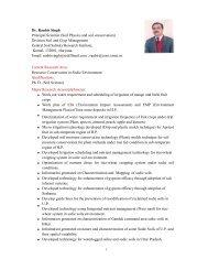 Dr. Ranbir Singh Principal Scientist (Soil Physics ... - CSSRI Karnal