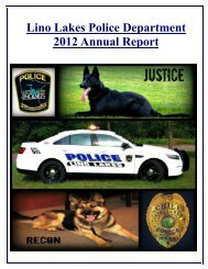 2012 Annual Report - City of Lino Lakes